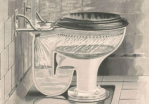 Pre-20th century Toilet sketch , credit Smithsonian