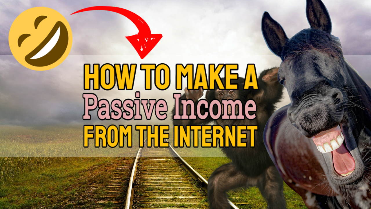 "Featured image text: ""How to make a passive income from the internet""."