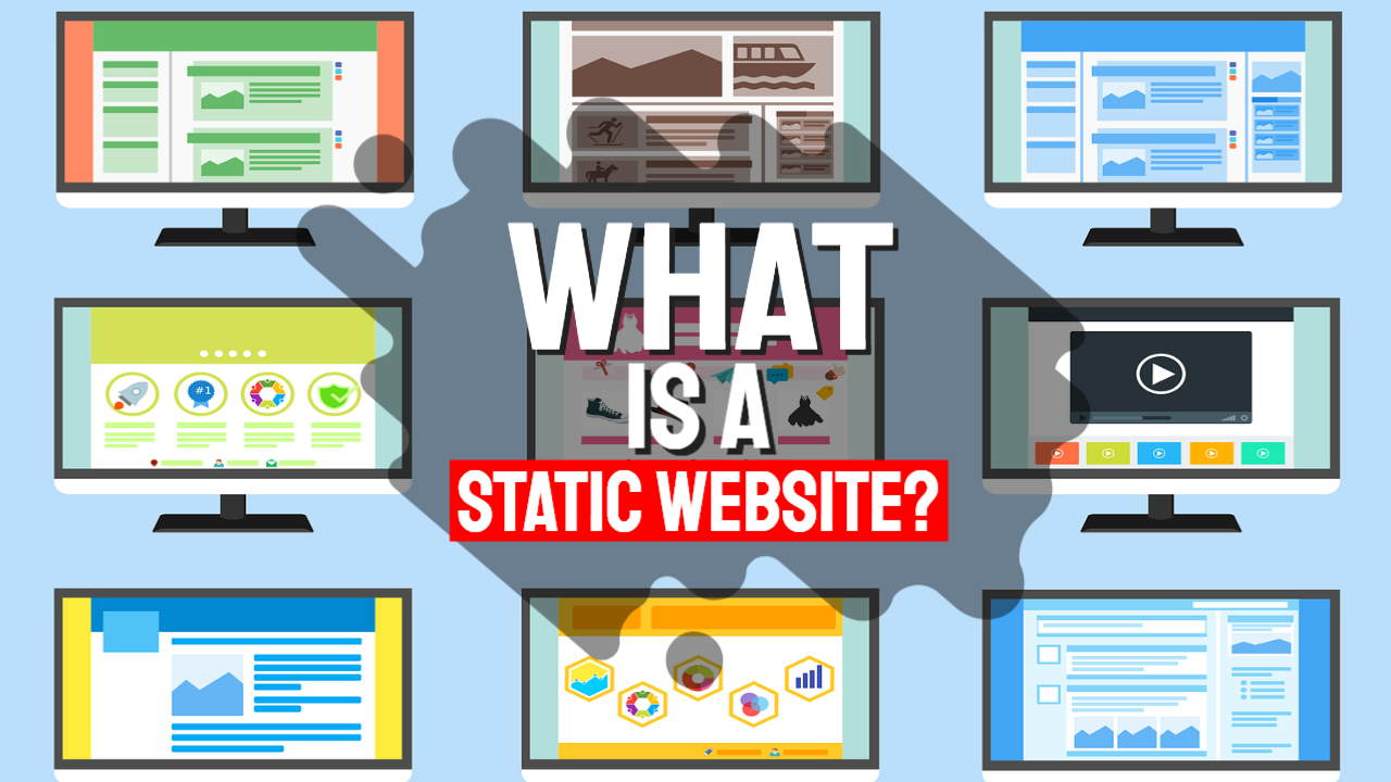 "Featured image with text: ""What is a static website?"""