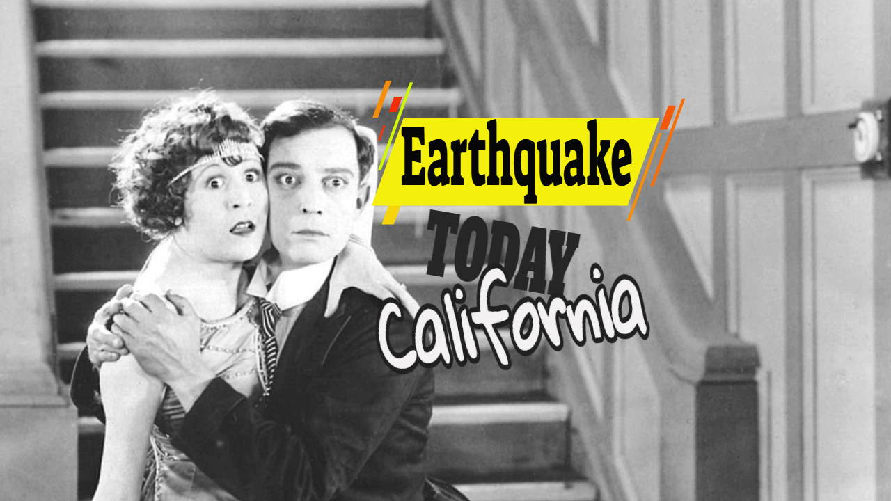 """Image with the text: """"Earthquake today California""""."""
