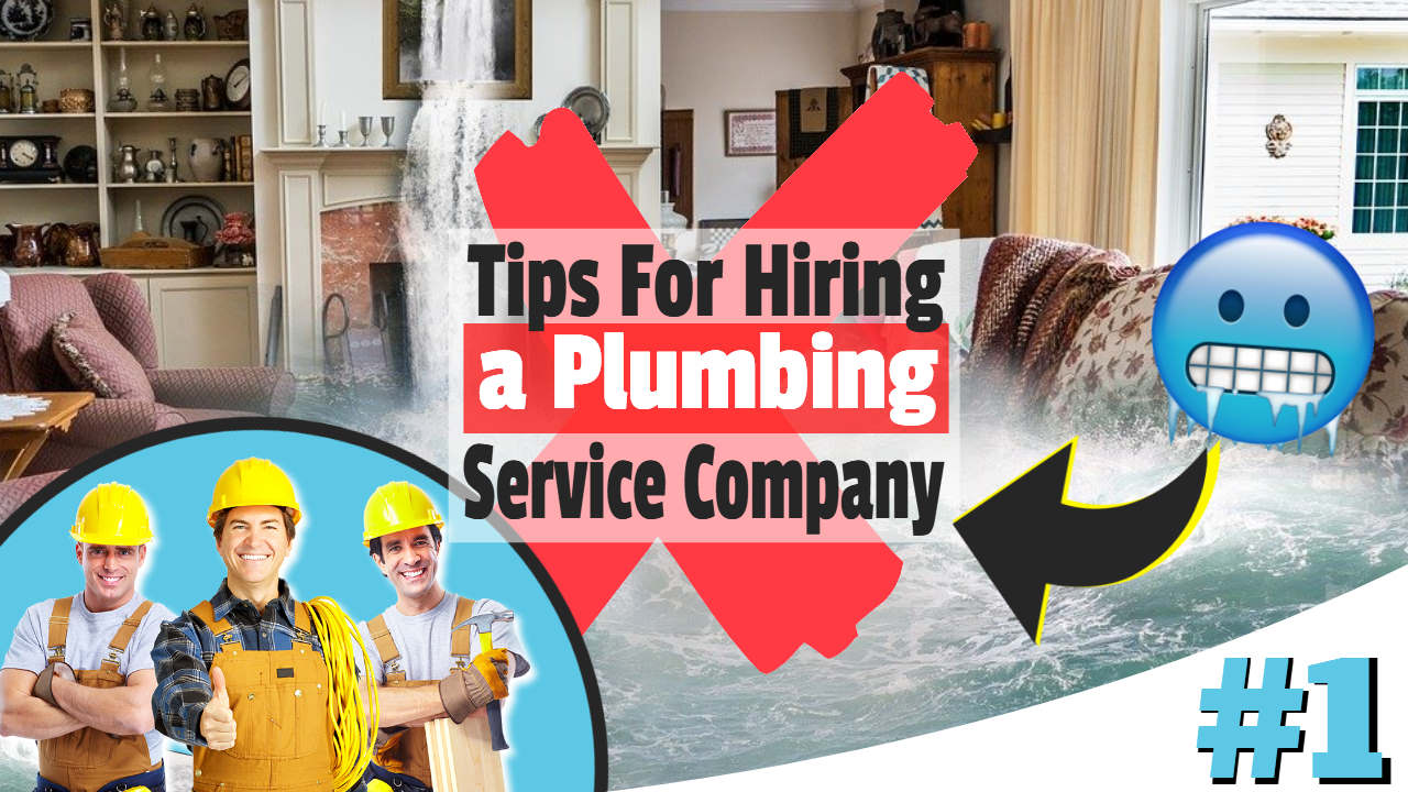 "Image text: ""Hiring a Plumbing Service Company""."