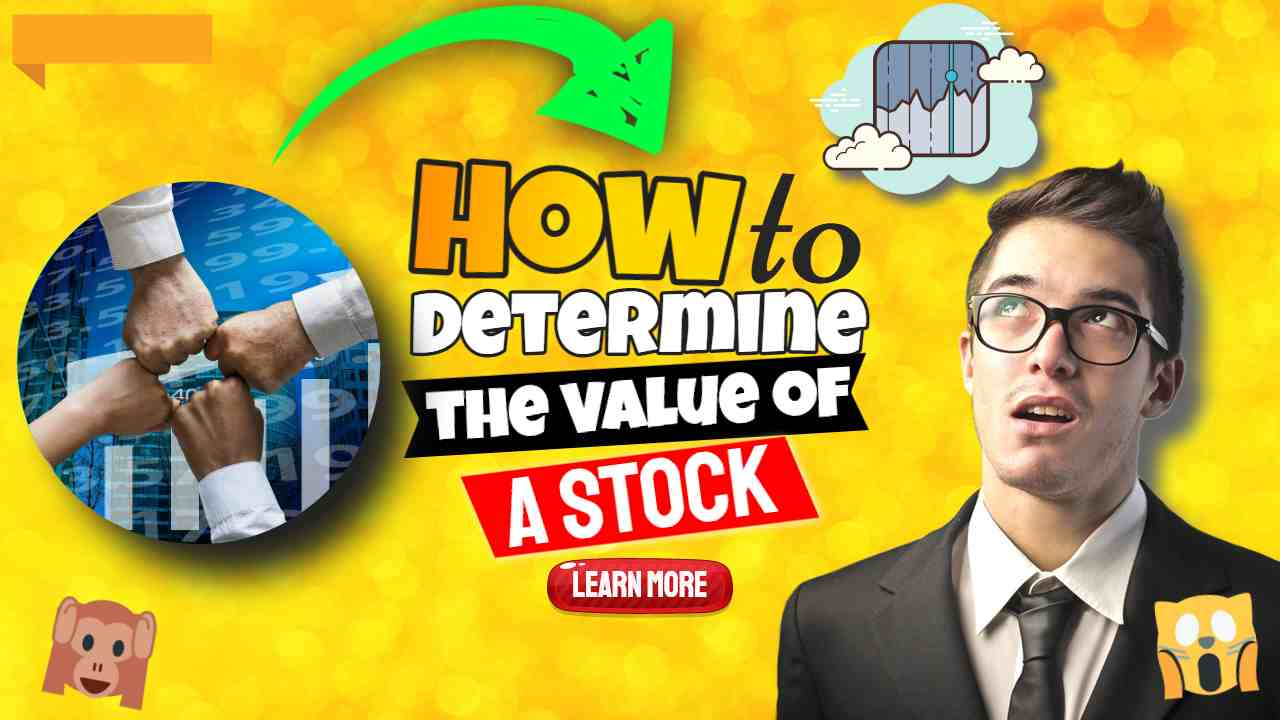 """Image text: """"How to Determine the Value of a Stock""""."""